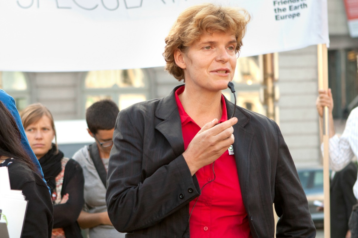 Anne van Schaik, accountable finance campaigner at Friends of the Earth Europe (Photo: FoEE, Flickr)