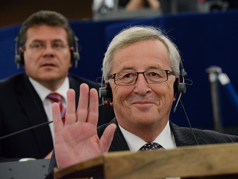 Euro-Krise, Jugendarbeitslosigkeit, steigende Flüchtlingszahlen – der gewählte Kommissionschef Jean-Claude Juncker steht vor Mammut-Aufgaben. Foto: EP