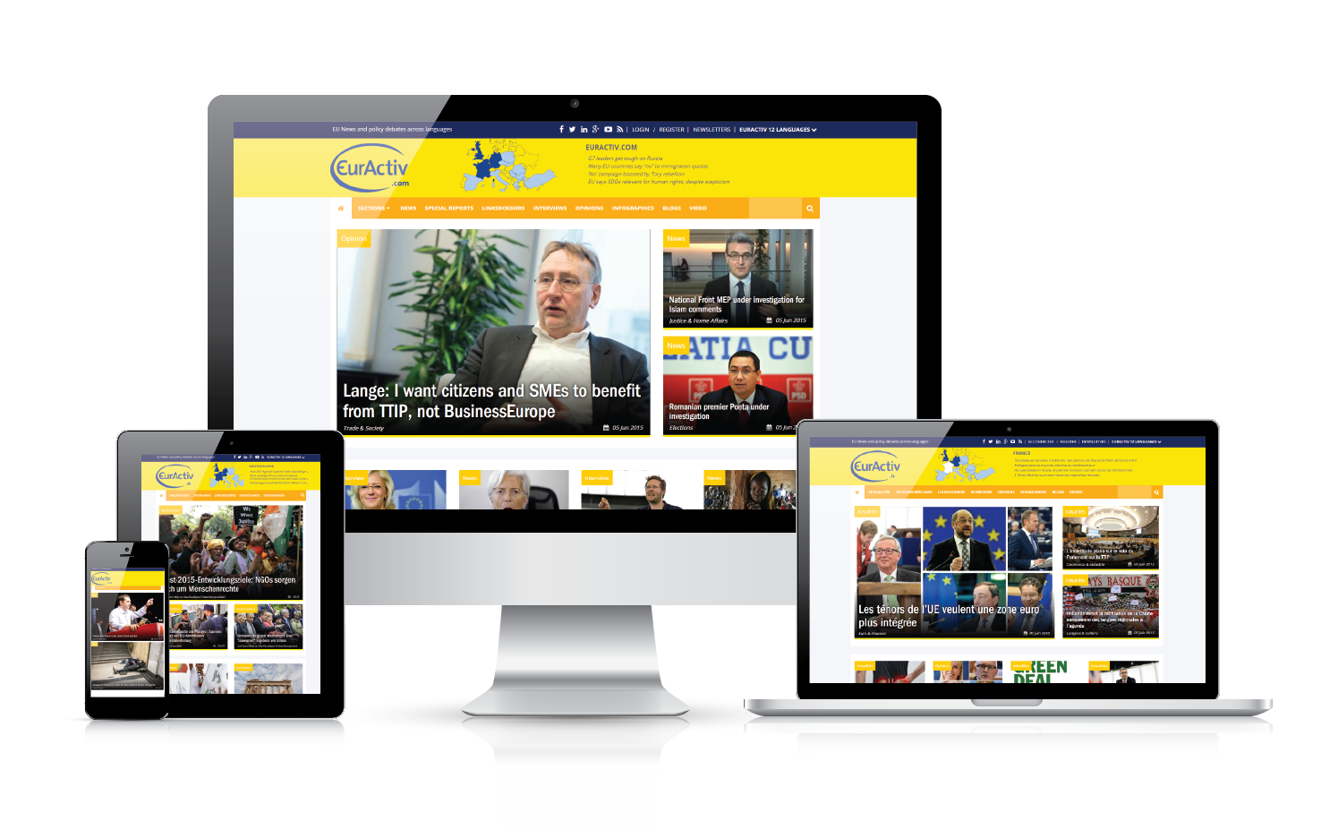 EURACTIV's redesigned websites designed with all device types in mind.
