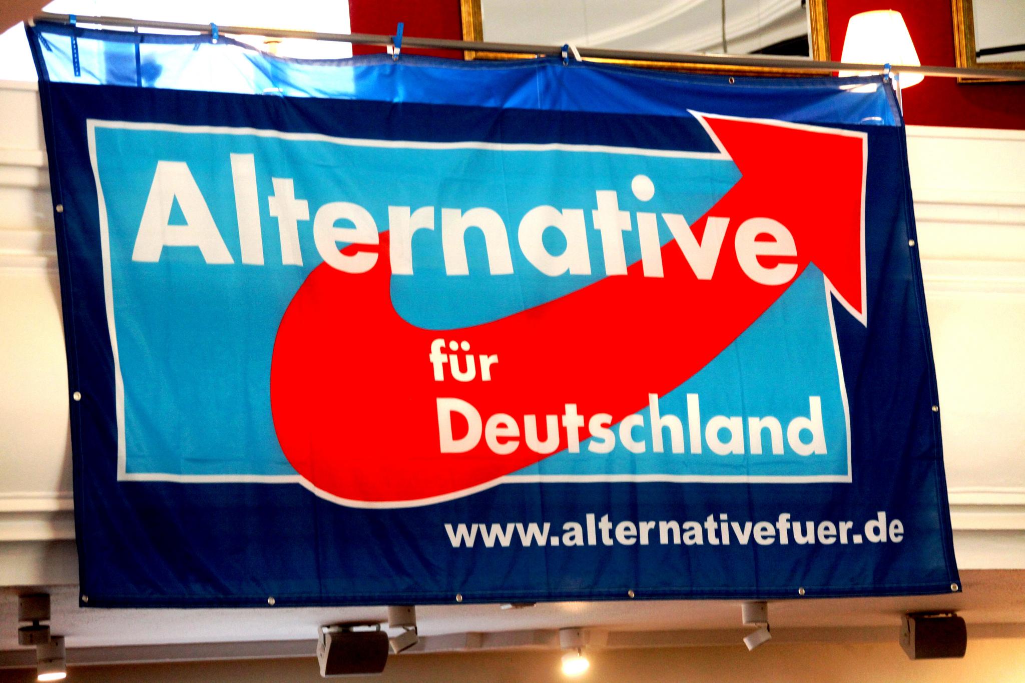 Plakat der Alternative für Deutschland AfD