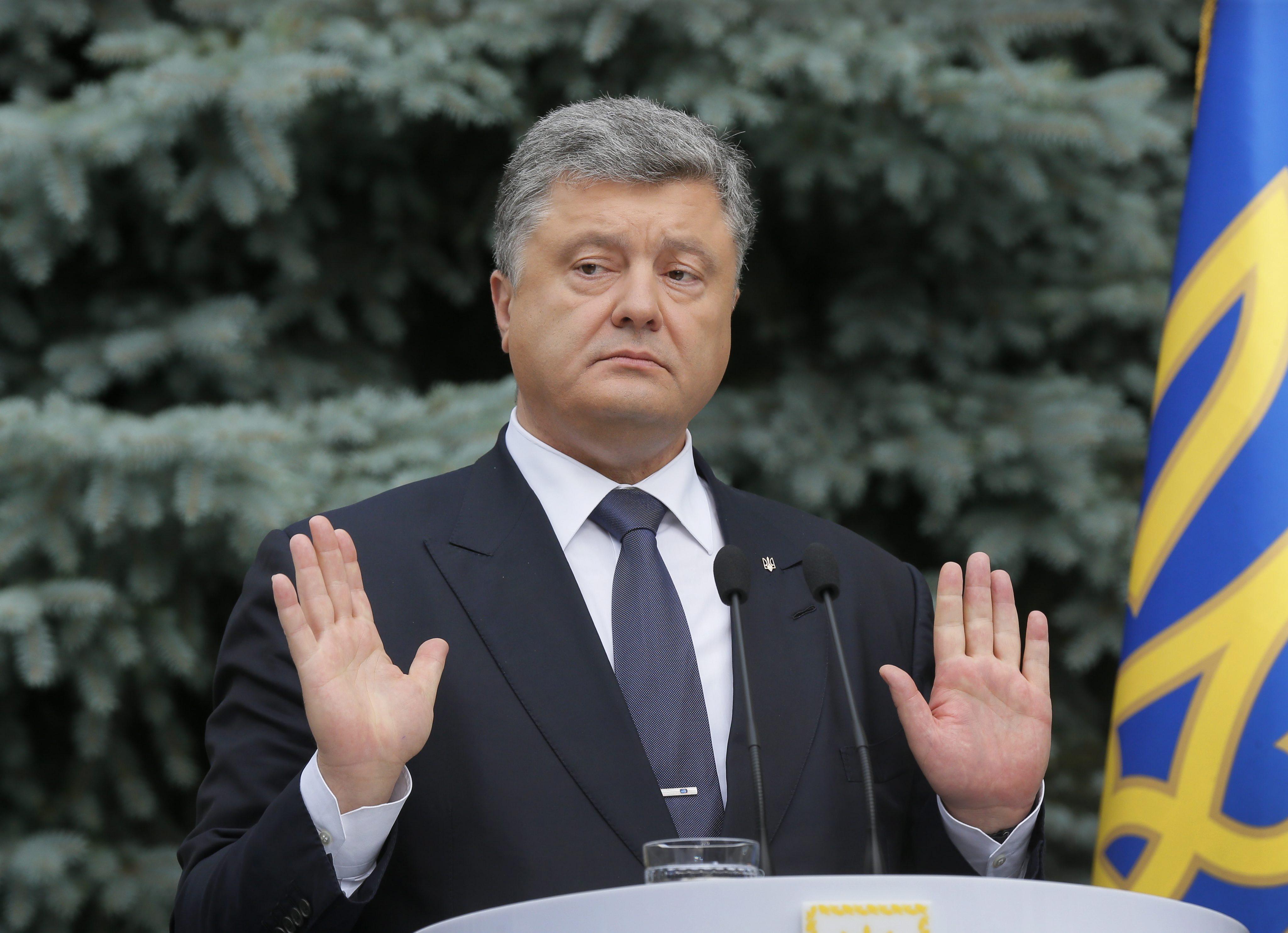 Der Präsident der Ukaine, Petro Poroschenko, will die besetzten Gebiete schnell zurückgewinnen.