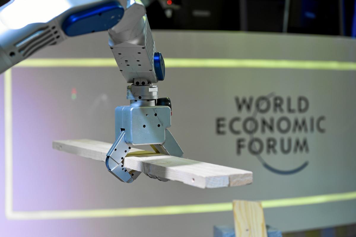 Weltwirtschaftsforum 2016 in Davos: Roboter HUBO