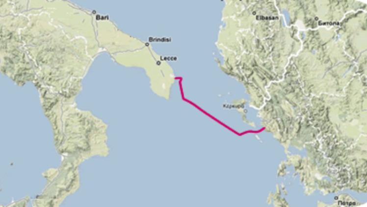 Die geplante Route der Poseidon-Pipeline