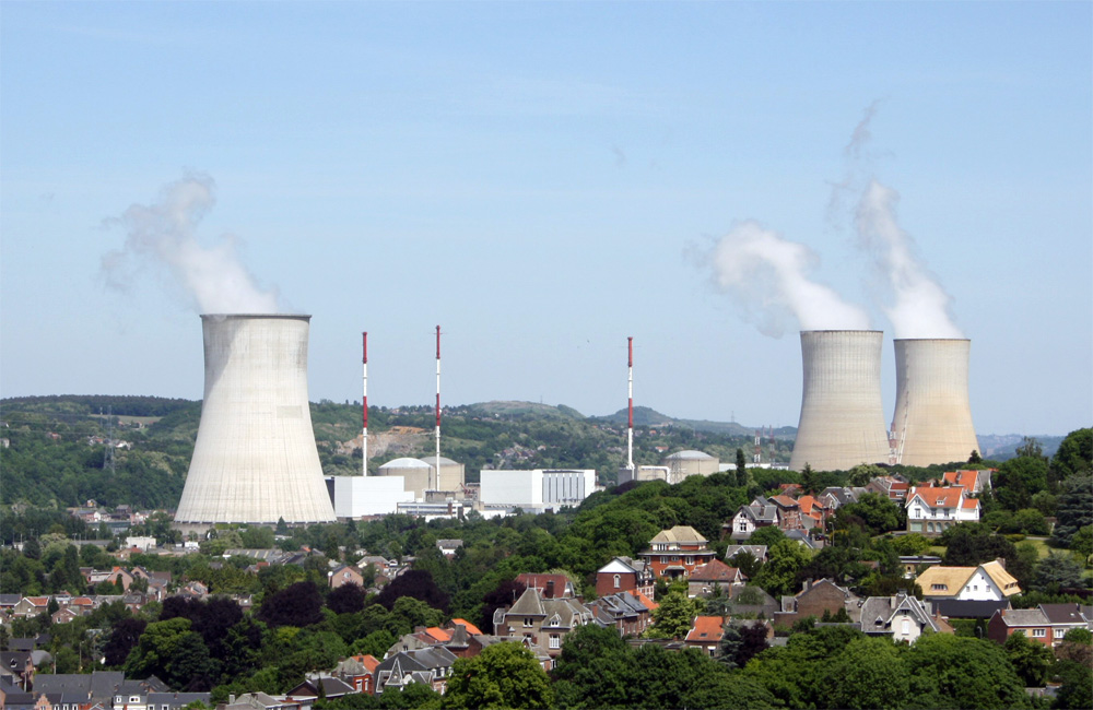 Das Atomkraftwerk in Tilhange/Belgien