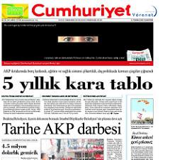 Cumhuriyet, Türkei, Gülen, Chefredakteur Murat Sabuncu