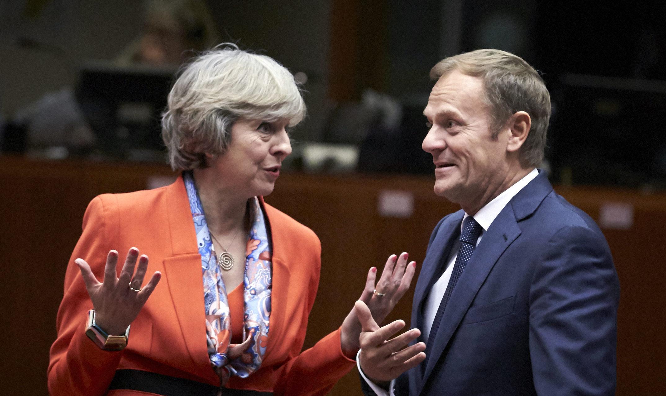 EU Europa Nachrichten Brexit May Tusk